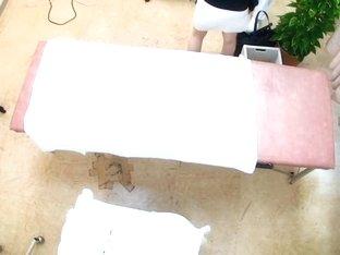 Thin Jap babe gets drilled hard in voyeur massage video