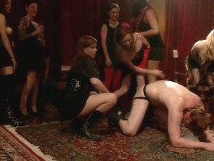 40 women gangbang slaveboy for Bobbi Starrs birthday LIVE and PUBLIC