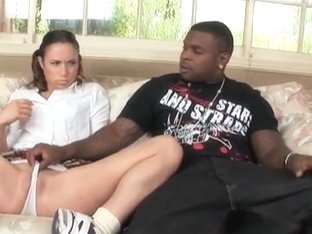 Ebony man seduces Amber Rayne to have sex