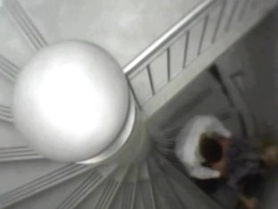 Couple doing doggy style on stairs and caught on cam