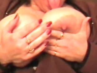 Lee rubbing his rod on my big tits