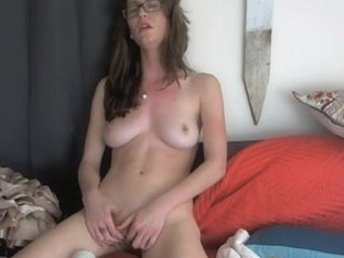 Riding my new vibrating sex toy