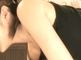 Asian masseuse giving a sensual massage on a spy cam
