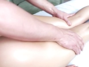 Her pussy gets rubbed till she cums...