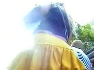 Summer skirts on the street providing perfect voyeur shots