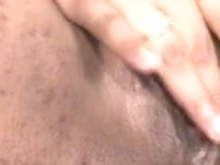 PLAYING WITH UNSHAVED CUM-HOLE