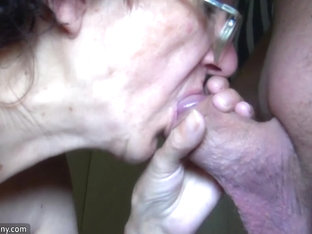 OldNanny Mom and Teen masturbating and sucking dick boyfriend