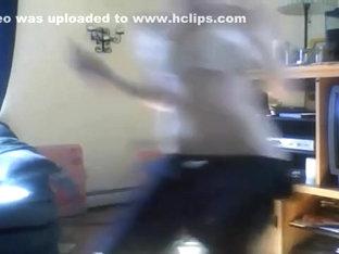 Most Good twerking web camera dance clip