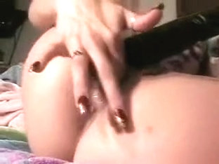 Mature marital-device whore squirts and floods the sofa