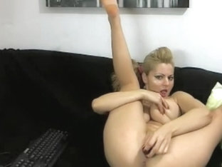 Oiled up scoops on a blondie