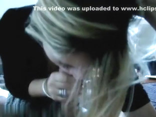 Her first blowjob on tape