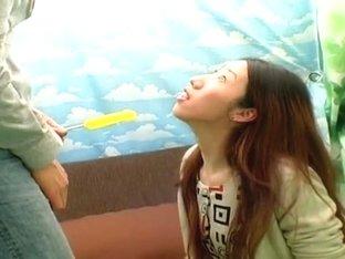 Exotic Japanese girl in Amazing Interview, Handjobs JAV clip