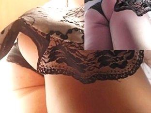 Dark underware on up petticoat close up episode