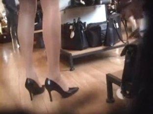 pantyhose heels voyeur