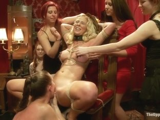 Making an Upper Floor Slave, and Monster Cock Fucks Hot Blonde Slut