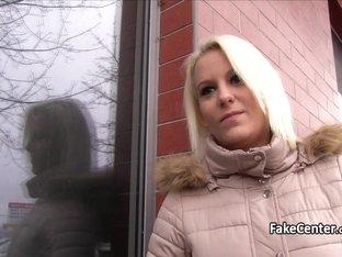 Blonde fucked fat cock in public