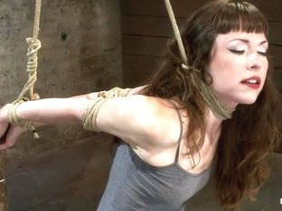 Girl next door suffers hardest hour on the internet No breaks, 4 positions, on screen tying!