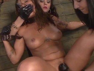 Brooklyn Daniels & Ava Kelly Give Smart Mouth Sex Slave Mena Li More Training