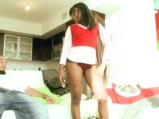 Ebony cutie Passion gets her pussy boned hard