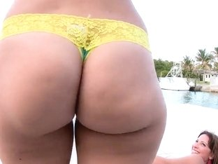 A fun day by the pool with sexy Liz and Victoria Sky