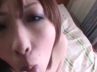 Saki Asaoka screams with cock in her hairy vag