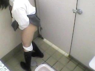 Masturbation hidden cam action from teen in school toilet