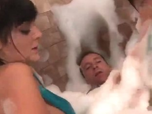 British Female twins and blond receive screwed in the shower