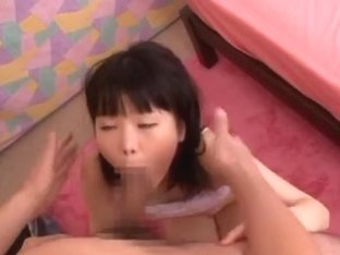 Petite Japanese teen gal Miyu Sakai teased by massive dude