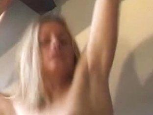 Blonde pornstar Oceane fucked in all holes