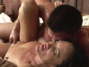 Perfect horny MILF screwed on the bed
