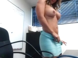 Flashing Her Boss