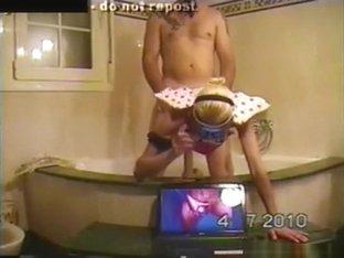 Spanish milf elsa y berg bathroom sextape
