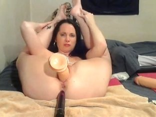 mature wiccan in hot attire bonks holes with toys and fists