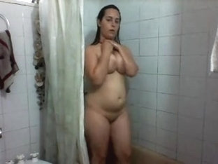 Rubbing my twat under a shower