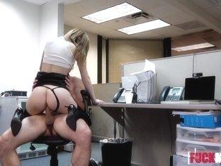 Ava Hardy In Sexy Secretarys Secret Cam Work