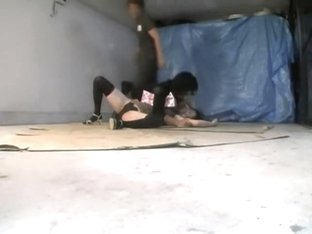 Sharking japan movie with sexy bun drilled by two cocks