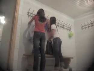 Young girls dressing room stripping on the camera