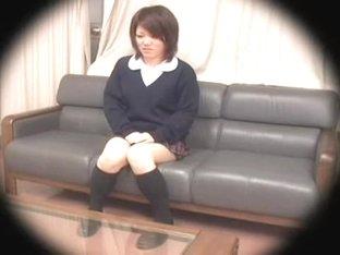 Nice looking Japanese gets her twat creamed on hidden camera