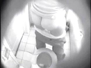 Hidden cam in bathroom. See my girlfriend masturbating