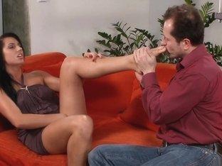 Horny pornstar Melissa Ria in fabulous foot fetish, brazilian xxx movie