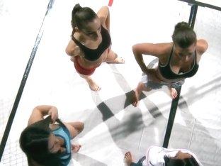 Lesbian fighters Adrianna Luna and Ariel X enjoy the orgy