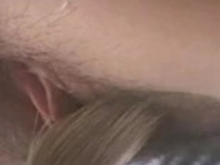 Brunette with hairy twat masturbates in sex euro video