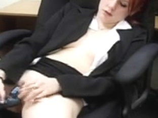 Mallory Redheaded Legal Age Teenager Office Bitch