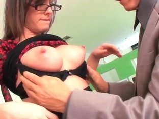 Naughty secretary Jennifer White pleasures her boss
