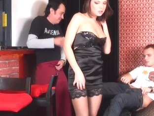 Gorgeous Teen In Stockins Ennessi Gets Fucked At The Club