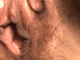 Rubbing my nice hairy cunt at home