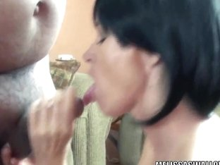 Mature slut Melissa Swallows is blowing a stranger
