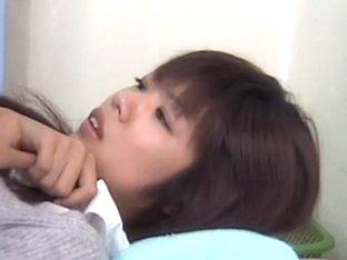 Hairy Japanese slut gets drilled during medical exam