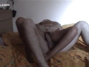 Blonde milf with hairy pussy oral and reverse cowgirl sex with her husband on the bed