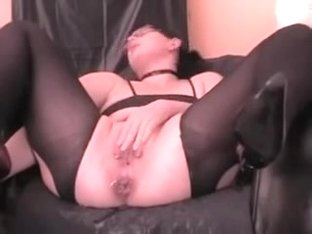 wife with inflatable anal dildo
